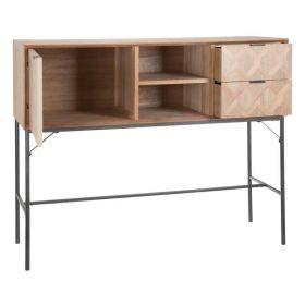 SKAGEN Aparador de diseño vintage 230 madera natural y negra