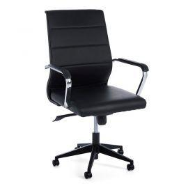Sillón Oficina Truman Negra Brazos 58x50x108