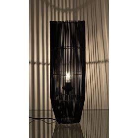 Lámpara De Pie Elián Bambú Negra 20x20x61