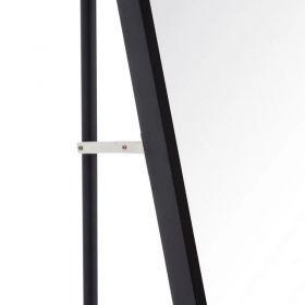 Espejo Suelo Anton Negro Aluminio Negro Cristal 35x2,5x151