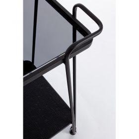 Camarera Iraza Negra 2 Baldas Metal 60x38x68 Cm