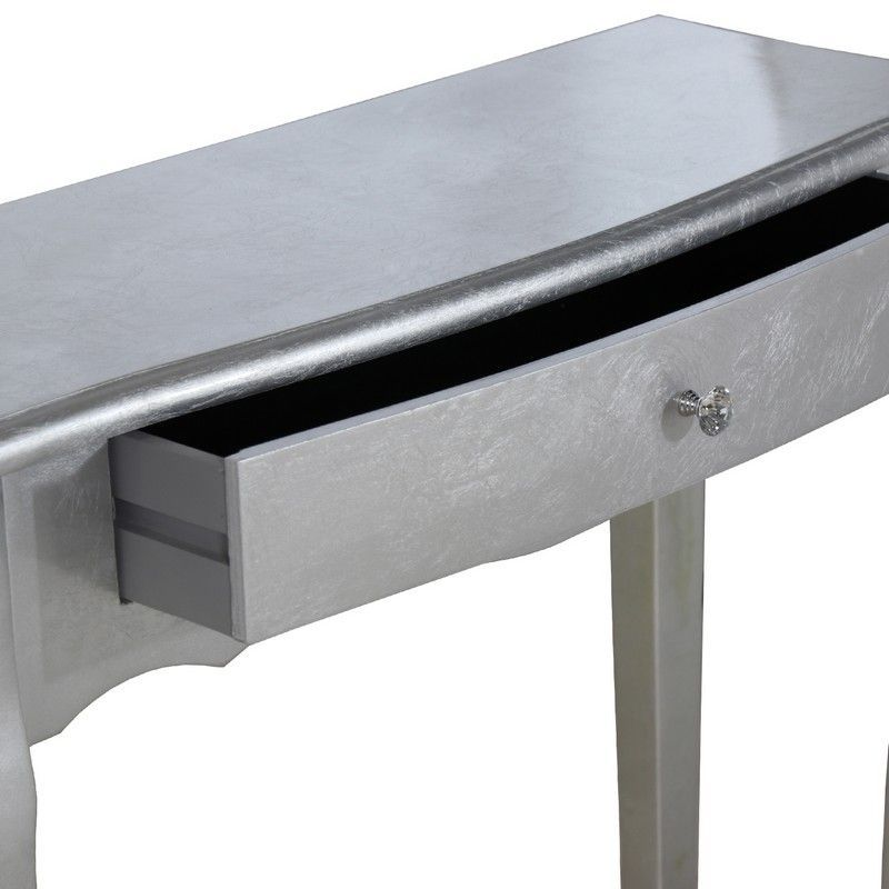 Mueble Consola Artemisa 1 Cajón Madera Plata 80x30x80 - Mueble consola con 1 cajón de madera de abeto color plata.✓ Medidas: 80x30x80 cm. ✓ Materiales: abeto, dm.REFERENCIA: 13868 - 159,00€