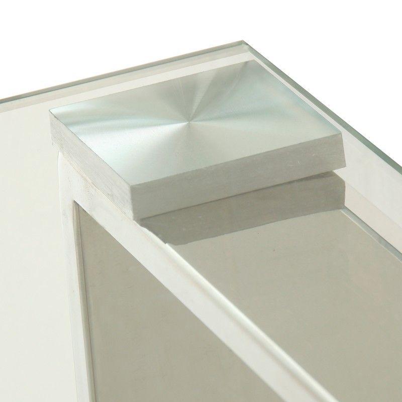 Mesa Centro Jacqui Metal Cristal Transparente 99x48x44 - Mesa de centro con patas de acero inox y cristal transparente templado: 8 mm.✓ Medidas: 99x48x44 cm. ✓ Materiales: acero inox, cristal.REFERENCIA: 13852 - 159,00€