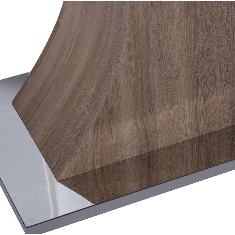 Mueble Consola Nicecio Blanca Madera Metal 110x35x79 - Mueble consola de madera color blanca marrón y metal plateado.✓ Medidas: 110x35x79 cm. ✓ Base: acero inox.Referencia: 13875 - 179,00€